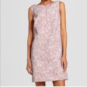 Victoria Beckham Target pink jacquard dress size S